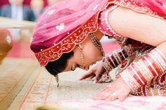 love this photo of the bride at her ceremony!