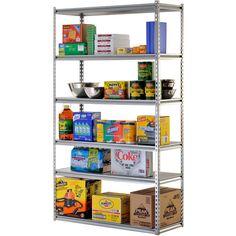 Large Six Shelf Storage Heavy Duty Steel Shelving Unit Garage Kitchen Home New  #Edsal