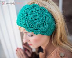 FREE headwrap pattern with flower tutorial!