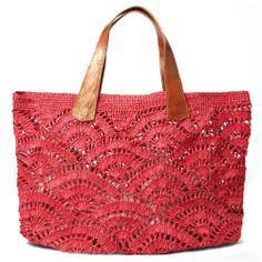 Mar Y Sol Tulum Raffia Market Tote in Coral - Herzlich willkommen Tulum, Crochet Tote, Crochet Handbags, Crochet Hat For Women, Carry All Bag, Basket Bag, Knitted Bags, Crossbody Shoulder Bag, Leather Handle