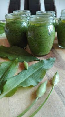 Pesto z medvědího česneku Home Canning, Korn, Pickles, Cucumber, Canning, Pickle, Zucchini, Pickling