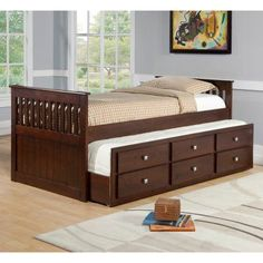 Donco Kids Captains Twin Trundle Bed - 303-TCP