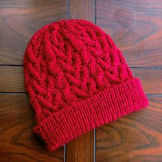 Ravelry: Cinnamon Hearts pattern by Elanor Sakamoto Beanie Knitting Patterns Free, Baby Hats Knitting, Mittens Pattern, Beanie Pattern, Knit Patterns, Free Knitting, Knitted Hats, Crocheted Bags, Cinnamon Hearts