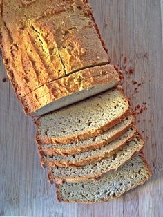 Paleo Bread (recipe from the Paleo Comfort Foods book)    Ingredients 3 1/2 cups of almond flour 3/4 teaspoon baking soda 1/4 teaspoon of salt 4 large eggs 1 Tablespoon honey 3/4th teaspoon apple cider vinegar Preheat oven to 300 degrees F combine all dry ingredients in a separate bowl, whisk the eggs, then add honey and vinegar. Pour the batter into a well-greased loaf pan. Bake for 45 minutes or so, or until bread is golden brown and a toothpick comes out clean.