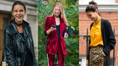 Settimana della Moda di Londra 2017  Molte ragazze hanno scelto collane a catena grandi e semplici, che nella nuova stagione hanno guadagnato maggiore popolarità. Si tratta di gioielli perfetti per le fan dello stile casual. Per chi invece vuole qualcosa di diverso e audace, ecco i choker a forma di collare da cane! Sembra quasi una cintura per bambini che le fashionista hanno invece deciso di indossare al collo.
