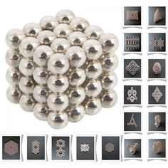 64pcs 5mm DIY Buckyballs Neocube Magic Beads Magnetic Toy Silver white.  Check this out at the Tmart link on MomTheShopper.