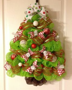 Sweet Xmas tree wreath...