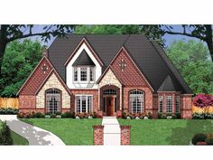 French+Country+House+Plan+with+4185+Square+Feet+and+4+Bedrooms+from+Dream+Home+Source+|+House+Plan+Code+DHSW36223