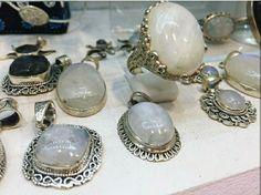Bijoux argent et Pierre de lune  Www.bijouxindiens.net
