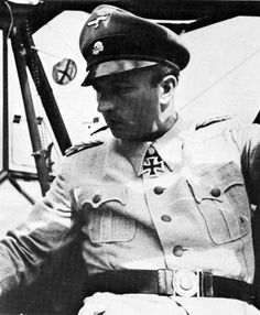 Brigadeführer Hermann Fegelein commander of the 1. & 2.SS-Kavallerie Regiments in the rare M41 SS-Sommer bluse, sitting in a Feiseler Fi 156 Storch reconnaissance/liaison aircraft, August, 1941.