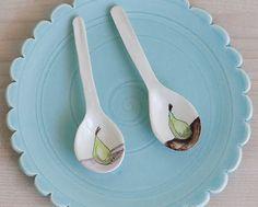 jeanette zeis ceramics: Handmade ceramic spoons. A little tutorial.