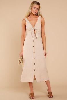 6a387423c6 Chic Beige Midi Dress - Trendy Midid Dress - Dress -  48.00 – Red Dress  Boutique