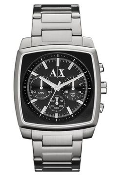 AX Armani Exchange Square Chronograph Bracelet Watch, 40mm available at #Nordstrom