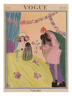Vogue Cover - December 15 1922 Poster Print by Helen Dryden at the Condé Nast Collection