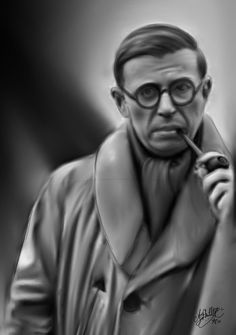"""Jean-Paul Sartre (1905-1980) was a French existentialist philosopher, whose work has been influential to many sociologists, particularly in the areas of critical theory & post-colonial theory. Sartre's """"Colonialism is a System,"""" (1956) constitutes a thorough analysis of colonialism, using the perspective developed by Marx, who argued that colonialism presented capitalism in its most naked form. Artist: *Tormentil (http://tormentil.deviantart.com/)"""