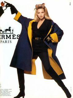 Timeless Fashion Nadja Auermann for Hermes Fall, 1992 Early 2000s Fashion, 90s Fashion, Retro Fashion, Fashion Models, Fashion Brands, High Fashion, Vintage Fashion, Nadja Auermann, Vintage Mode