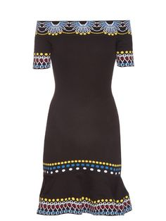 PETER PILOTTO Geometric-Knit Off-The-Shoulder Dress. #peterpilotto #cloth #dress