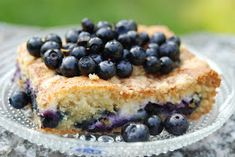 Blueberry, Cake Recipes, Oatmeal, Baking, Breakfast, Party, Desserts, Foods, Drinks