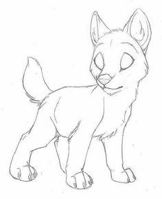 Výsledok vyhľadávania obrázkov pre dopyt draw an anime wolf pup Animal Sketches, Art Drawings Sketches, Cute Drawings, Easy Animal Drawings, Anime Wolf Drawing, Furry Drawing, Wolf Base, Wolf Sketch, Drawing Base