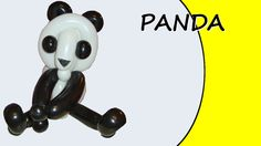 Video tutorial on how to make a panda with balloons twisting #panda