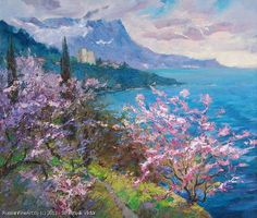 """Spring In Crimea"" - oil, canvas http://www.russianfineart.co/catalog/prod.php?productid=21230 Artist: Schesnyak Viktor"