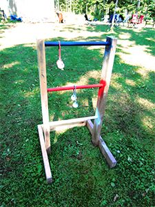 this page is full of outdoor games you can make yourself.