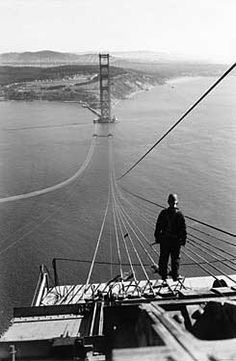 Vintage San Francisco Golden Gate Construction Photo Art Print