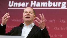 Noch-Bürgermeister Olaf Scholz Hamburg Germany