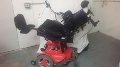 """**MUST SEE PERMOBIL C300 POWERED WHEELCHAIR TILT RECLINE LEGS W/ EXTRAS """"AS IS"""" #Permobil"""