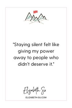 You are not a damsel in distress | how to own your power, use your voice and live your truth | Elizabeth Su - Freelance writer and founder of Monday Vibes | quote about not giving away your power to people who don't deserve it | feminist quotes | setting