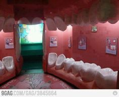 No kidding around - this dental lobby is fun for children.