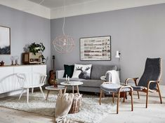 Salas de design nórdico e estilo chique