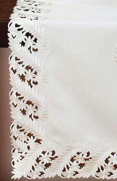 Laurel Embroidered Cutwork Tablecloth