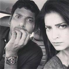 Shruti Haasan and vishal at Poojai Movie shooting Spot