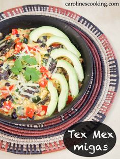 Tex Mex migas #SundaySupper -  a delicious, quick and easy breakfast or brunch dish with eggs, corn tortillas, pepper, cheese and more. So much flavor!