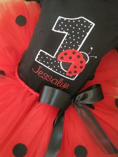 Personalized Ladybug Birthday Shirt by TheTinyCloset on Etsy, $19.95