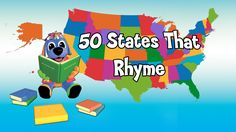 50 States that rhyme with lyrics. A fun way to learn the 50 States for kids (and adults! You don't have to be a preschooler to appreciate this music video . Fun Learning, Learning Activities, Teaching Kids, Geography Activities, Learning Styles, 3rd Grade Social Studies, Teaching Social Studies, Rhymes Songs, Kids Songs