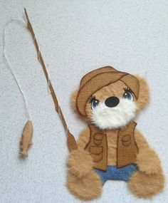 One spring fishing tear bear paper piecing by my tear bears Kira