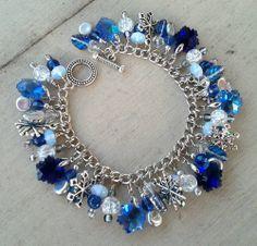 Let It Snow/ snowflake  Charm Bracelet & Earrings - JEWELRY AND TRINKETS