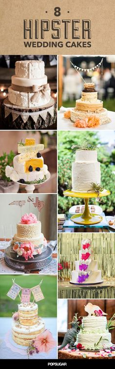If you want to add some hipster to your wedding, try these wedding cake alternatives.