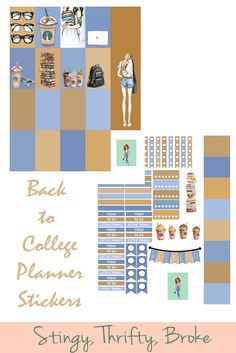 Back to College free printable planner stickers!