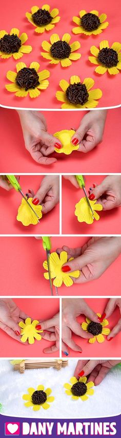 Do It Yourself A Brigadier Daisy Flower Decoration Decorate Table Fes Do It Yourself A Brigadier Dai Birthday Treats, 2nd Birthday Parties, Daisy Decorations, Sunflower Party, Baby Girl First Birthday, Flower Wall Decor, Cake Decorating Tutorials, Happy B Day, Diy Crafts For Kids