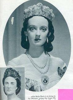 "Bette Davis Carlotta   Bette Davis as Empress Carlotta of Mexico. The movie was ""Juarez"" 1939 ..."