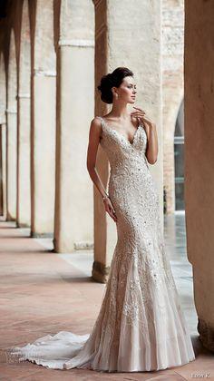 eddy k couture 2017 bridal sleeveless v neck full embellishment elegant  beautiful fit and flare wedding 465714fa6c87