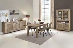 EWELL - Superbe salle à manger qui remplit l'intérieur d'une ambiance chaleureuse grâce à sa structure de bois. Vous voulez en savoir plus ? Découvrez-la en magasin | Meubles Toff