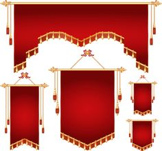 Royal banner different shapes vector (5).png