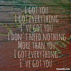 "-- #LyricArt for ""I Got You"" by Jack Johnson"