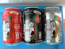 3 Coca Cola cans complete Panini Euro 2012 collection from Portugal