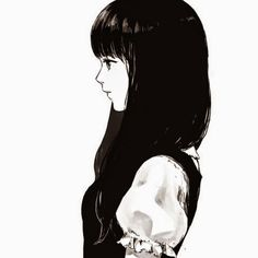 anime girl black hair - Google keresés