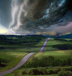 road in a dramatic setting